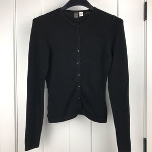 BP medium black knit button up cardigan